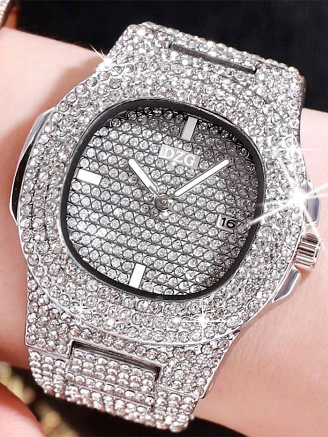ceasuri de cuarț pentru femei, cuarț analogic, luxos, rezistent la apă / impermeabil cadran mare