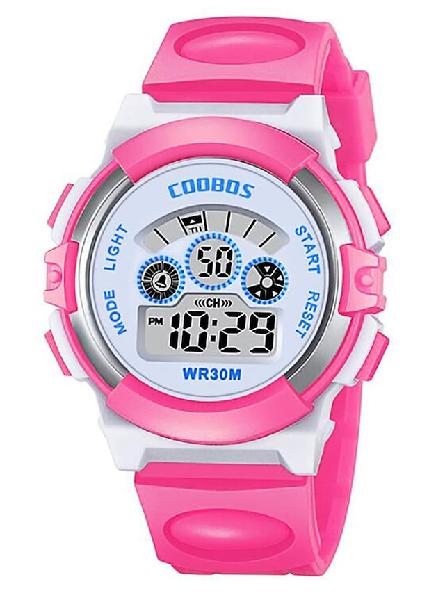 Kids Digital Watch Digital Digital Fashion Water Resistant / Waterproof Chronograph Lovely / One Year / Silicone