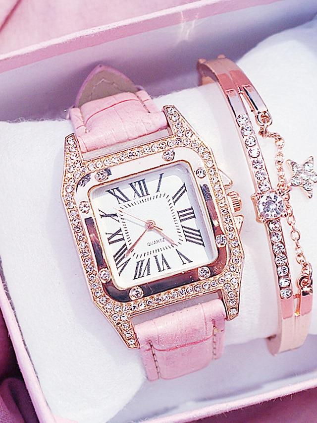damskie zegarki kwarcowe analogowy kwarcowy elegancki diament