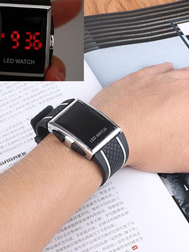 Men's Sport Watch Wrist Watch Digital Digital Casual Water Resistant / Waterproof Chronograph LCD / One Year / Stainless Steel / Silicone