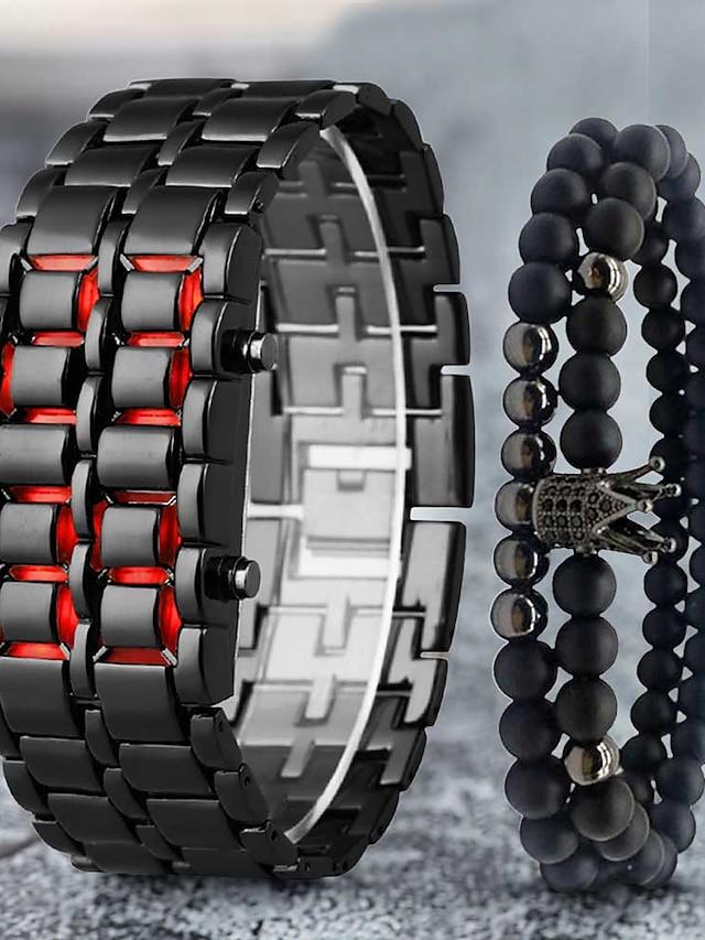 Men's Digital Watch Digital Digital Modern Style Stylish Classic LCD Casual Watch / One Year / Stainless Steel