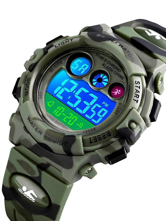 SKMEI Boys' Sport Watch Digital Digital Fashion Water Resistant / Waterproof Alarm Clock LED Light / Silicone