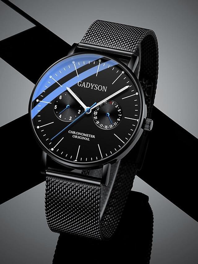 Men's Sport Watch Analog Quartz Casual Altimeter Chronograph Luminous