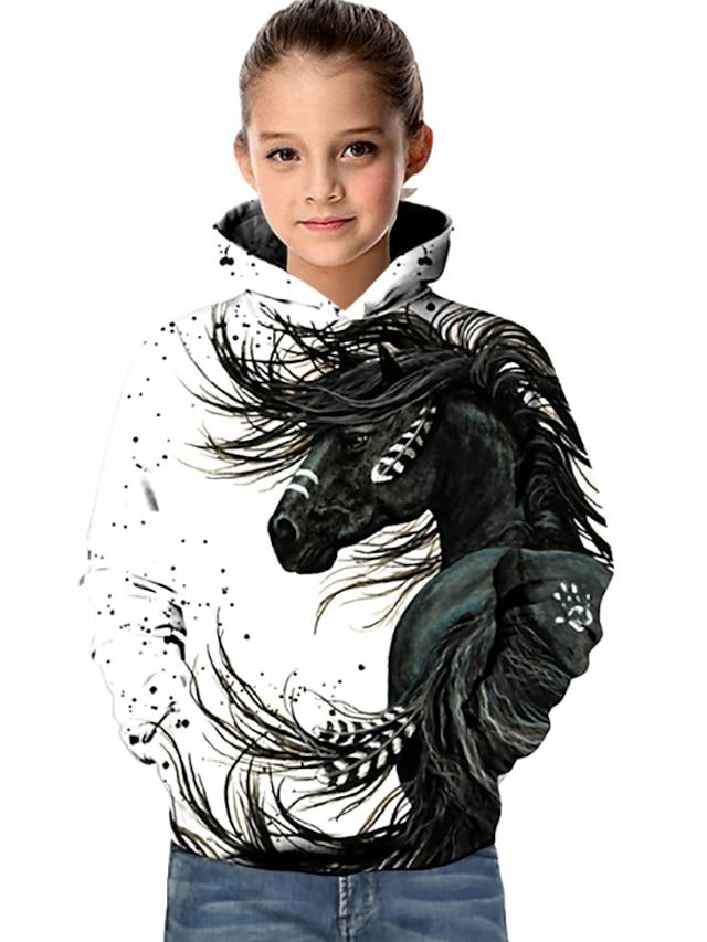 Kids Girls' 3D  Digital Print Sweatshirts Hooded Top Galaxy Pattern Hoodie