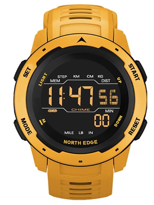 NORTH EDGE สำหรับผู้ชาย นาฬิกาดิจิตอล ดิจิตอล ดิจิตอล กีฬา สไตล์ ไม่เป็นทางการ กันน้ำ นาฬิกาปลุก หลอดไฟ LED / หนึ่งปี