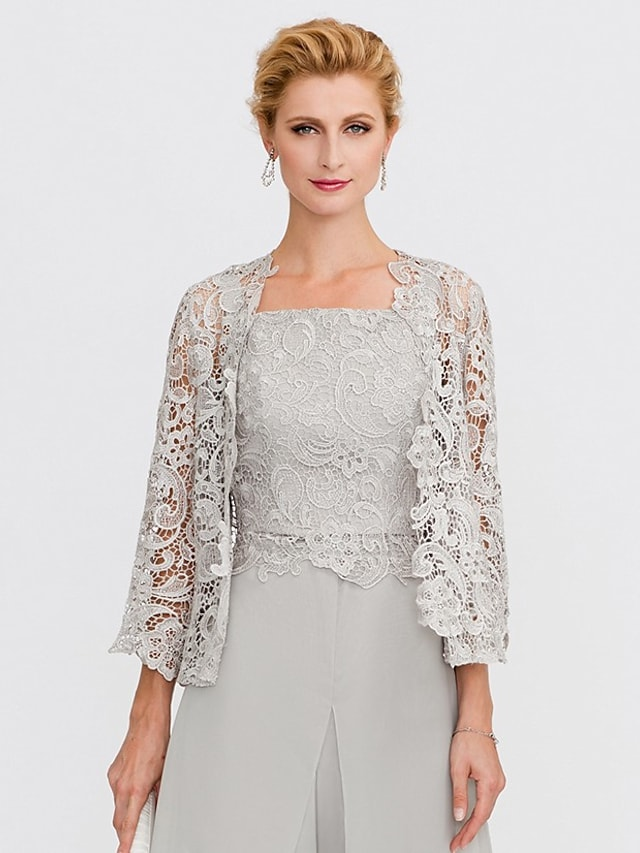 3/4 Length Sleeve Shrugs Lace Wedding / Party / Evening Women's Wrap With Lace