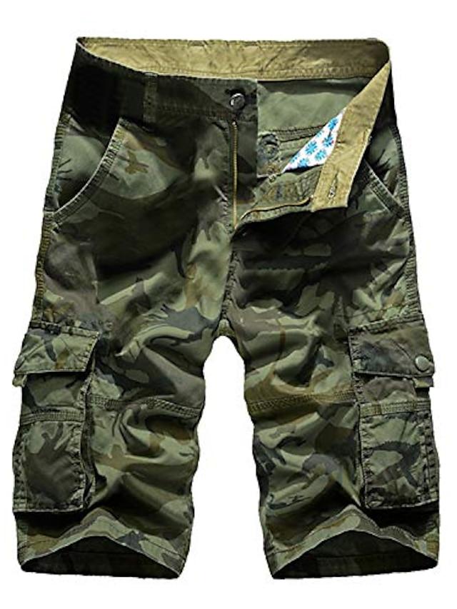 short camo pour hommes poches baggy d'été avec pantalon à fermeture éclair camouflage cargo vêtements streetwear bermuda masculina