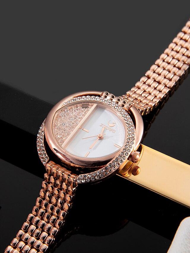 Women's Quartz Watches Analog Quartz Stylish Fashion Diamond Creative