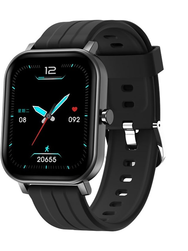 S10 Unisex Smartwatch Bluetooth Heart Rate Monitor Blood Pressure Measurement Calories Burned Media Control Health Care Stopwatch Pedometer Call Reminder Sleep Tracker Sedentary Reminder