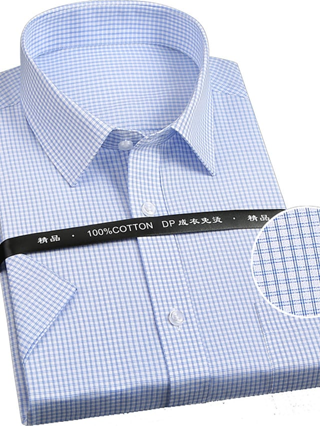 בגדי ריקוד גברים חולצה אחיד כפתור למטה שרוול ארוך קזו'אל צמרות כותנה עסקים בסיסי יום יומי A B C