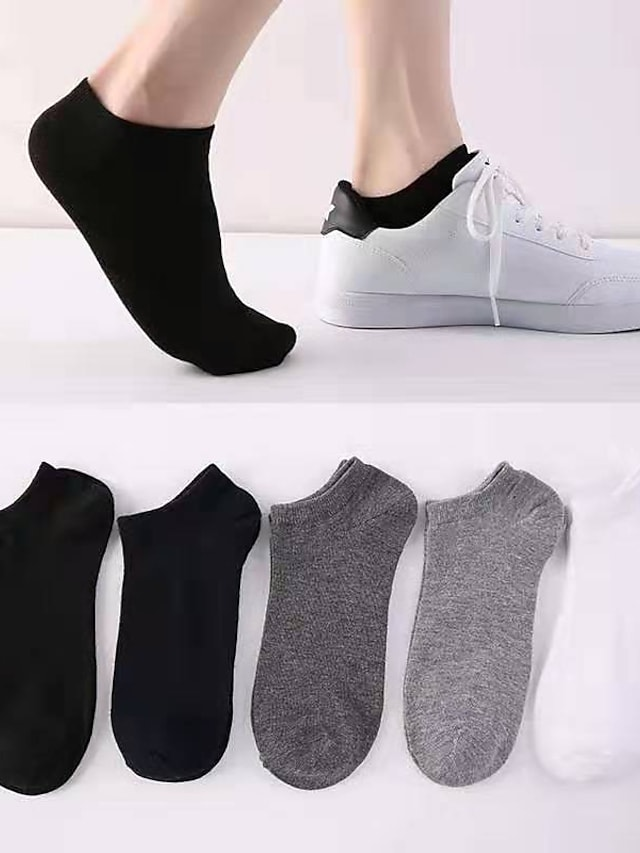 Men's All Socks Solid Colored Socks Thin Gray 1 Pair