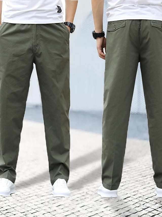 Men's Sports & Outdoors Streetwear Outdoor Sports Chinos Tactical Cargo Casual Daily Pants Solid Color Full Length Pocket ArmyGreen Light gray Black Dark Gray