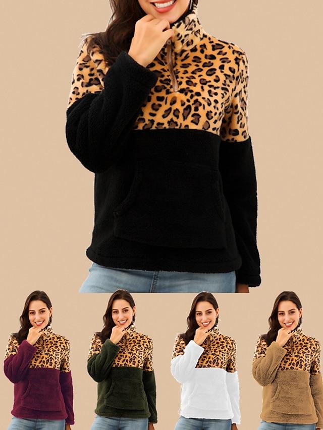 LITB Basic Women's Zip Up Sweatshirt Pullover ColorZipper Pocket Patchwork Casual Sports Weekend Sportswear Casual Hoodies Sweatshirts