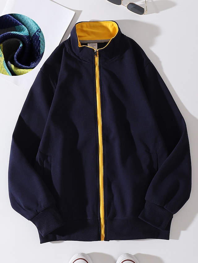 Women's Zip Up Hoodie Sweatshirt Outerwear Plain Zipper Daily non-printing Basic Hoodies Sweatshirts