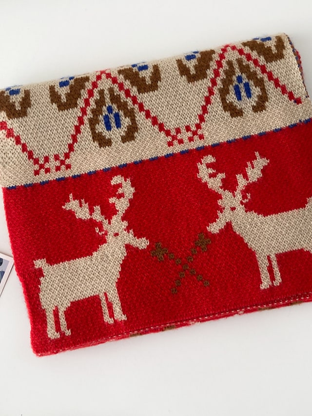 Women's Shawls & Wraps Christmas Red Scarf Deer