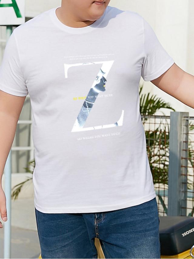Men's T shirt Graphic Plus Size Metal Short Sleeve Casual Tops Purple Yellow Burgundy