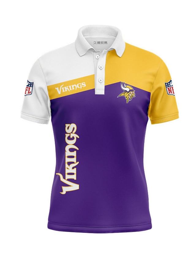 Men's Golf Shirt Color Block Portrait Letter Button-Down Print Short Sleeve Casual Tops Casual Fashion Cool Breathable Purple