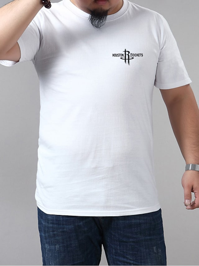 Men's T shirt Graphic Plus Size Metal Short Sleeve Casual Tops Blue Purple Yellow