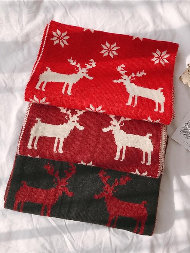 Women's Shawls & Wraps Christmas Black Scarf Snowflake