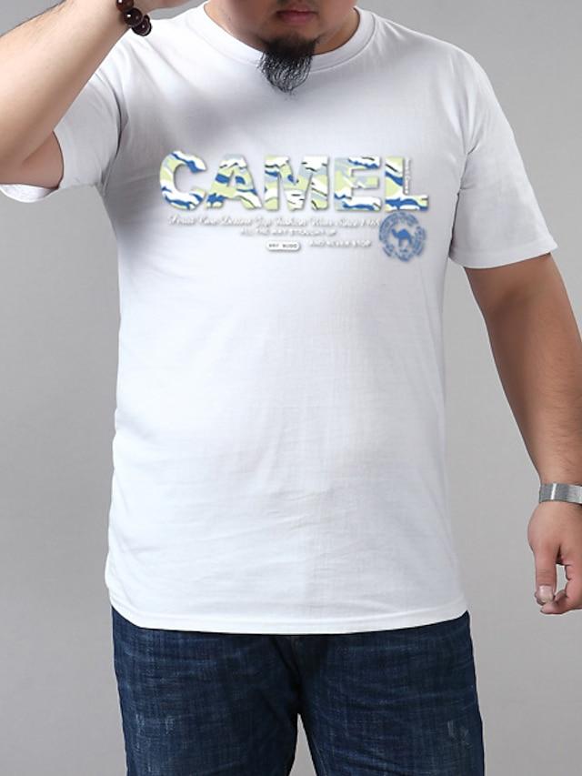 Men's T shirt Graphic Plus Size Short Sleeve Casual Tops Blue Purple Yellow