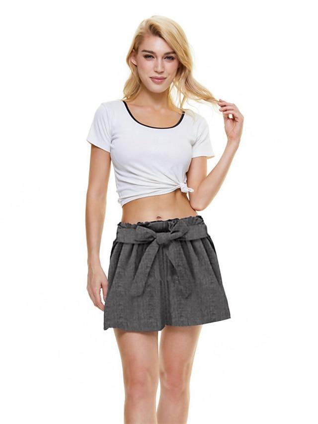 Women's Sporty Fashion Comfort Soft Shorts Home Casual Pants Plain Short Pocket Grey Black Light Blue