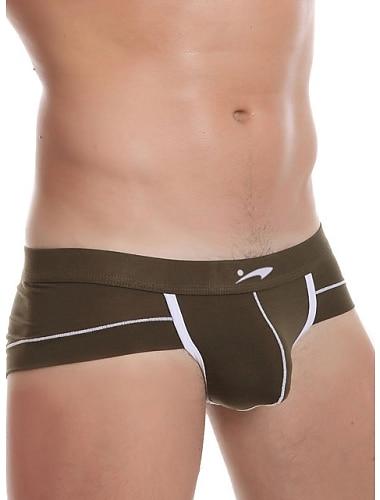 Herre Farveblok Underbukser Super sexet Net 1 Stykke Gul S
