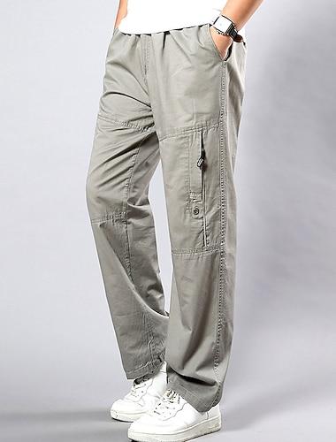Bărbați Chinoiserie Larg Pantaloni Sport Pantaloni de marfă Mărime Plus Zilnic Sfârșit de săptămână Pantaloni Mată Lungime totală Galben Verde Militar Gri Deschis Negru / Toamnă / Primăvară