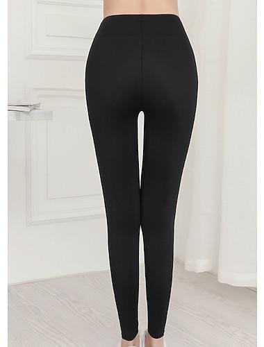 Dámské Kalhoty Jednobarevné Tisk Černá