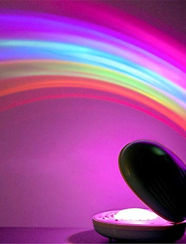 Rainbow Night Light Projector Lamp Shell Shaped Colorful Led Projection Lamp Amazing Colorful LED Romantic Night Light