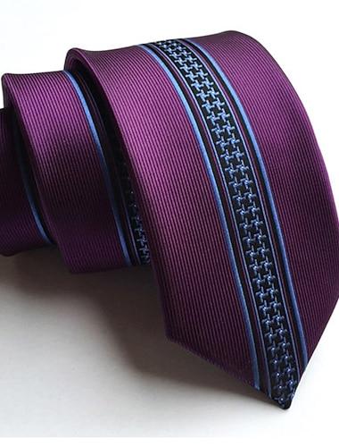 Męskie Praca Krawat Prążki