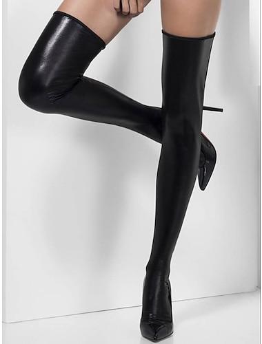 สำหรับผู้หญิง ถุงเท้า ถุงน่อง กลาง 20D สีเงิน / เซ็กซี่