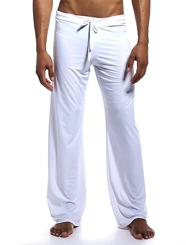Bărbați De Bază chinez Pantaloni Sport Pantaloni Mată Lungime totală Sport Cordon Gri Cămilă Alb Negru
