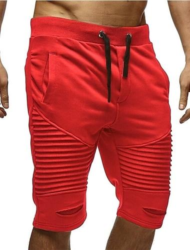 Pánské Základní Kalhoty chinos Tepláky Volné Kalhoty Jednobarevné Šňůrky Trávová zelená Černá Tmavě šedá Rubínově červená