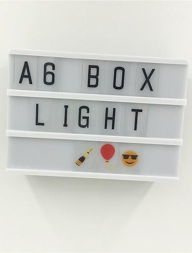 Rectangular Lightbox Decoration Light Letter Light Box Creative Birthday Cinematic AAA Batteries Powered 1pc