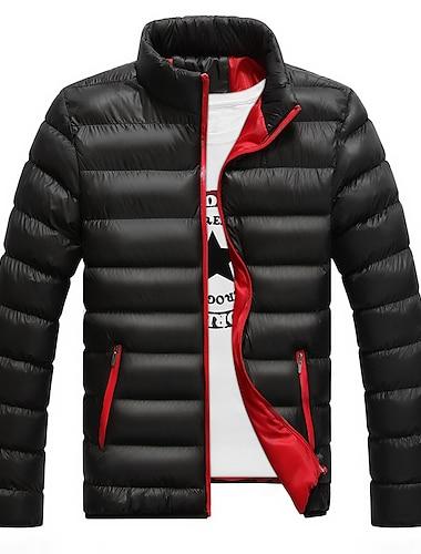 мужская классическая пуховая куртка с капюшоном, теплое пальто с длинным рукавом с воротником-стойкой на молнии, зимняя верхняя одежда с карманами, пуховое вино красного цвета