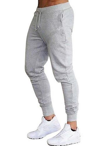 Męskie Podstawowy Spodnie dresowe Spodnie Solidne kolory Pełna długość Wino Zieleń wojskowa Jasnoszary Czarny