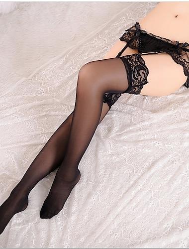 สำหรับผู้หญิง ถุงเท้า เซ็กซี่ ถุงน่อง บาง 30D สีแดงชมพู