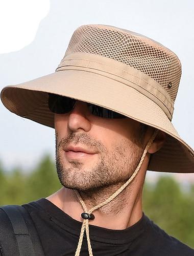 Miesten Aurinkohattu Polyesteri Perus - Yhtenäinen Kaikki vuodenajat Musta Uima-allas Khaki