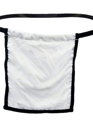 رجالي طبيعي مقصوص ملابس داخلية خيطية قابل للبسط خصر منخفض 1 قطعة أبيض حجم واحد