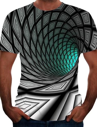 Bărbați Tricouri Tricou Cămașă Tipărire 3D Grafic 3D Print Mărime Plus Manșon scurt De Atletism Topuri De Bază Elegant Trifoi