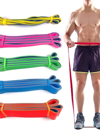 Resistance Bands 1 pcs Sports Latex Home Workout Gym Pilates Eco-friendly Non Toxic Stretchy Durable Strength Training Muscular Bodyweight Training Physical Therapy For Men Women