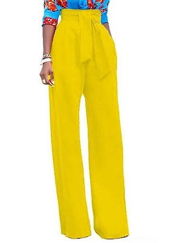 Dámské Základní Kalhoty chinos Volné Kalhoty Jednobarevné Vodní modrá Žlutá Fialová Bílá Černá