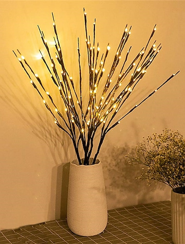 1pc/2pcs/3pcs/5pcs 20 Bulbs LED Willow Branch Lights Lamp Natural Tall Vase Filler Willow Twig Lighted Branch Christmas Wedding Decorative Lights