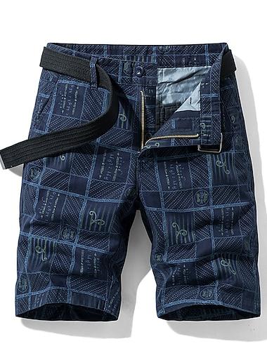 Homme basique Respirable Exterieur Short Pantalon cargo Coton Mince du quotidien Pantalon Animal Longueur genou Vert Veronese Gris Kaki Noir Bleu Marine / Ete