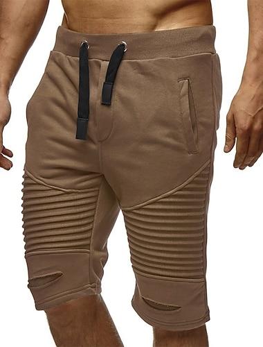 Pánské Základní Kalhoty chinos Tepláky Volné Kalhoty Jednobarevné Šňůrky Trávová zelená Černá Tmavě šedá