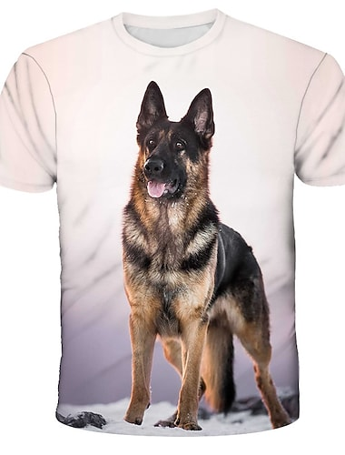 Herren T-Shirt Hemd Grafik Druck Kurzarm Alltag Oberteile Street Schick UEbertrieben Rundhalsausschnitt Regenbogen