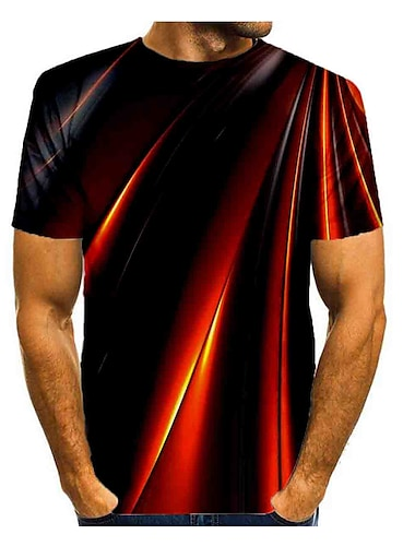 Bărbați Tricou Cămașă Grafic Imprimeu Manșon scurt Zilnic Topuri De Bază Rotund Curcubeu