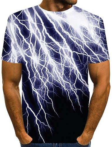 T-shirt Chemise Homme Graphique Abstrait Normal Imprime Manches Courtes Quotidien Standard Polyester basique Exagere Col Rond