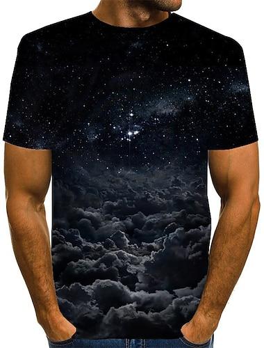 T-shirt Chemise Homme Graphique Grandes Tailles Imprime Manches Courtes Quotidien Fin de semaine Standard Polyester basique Exagere Col Rond