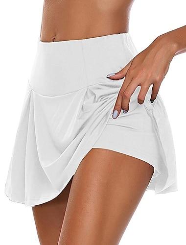 Dámské Denní nošení Rande Základní Sexy Houpačka Sukně Jednobarevné Vícevrstvé Bílá Černá Rubínově červená / Mini / Vypasovaný